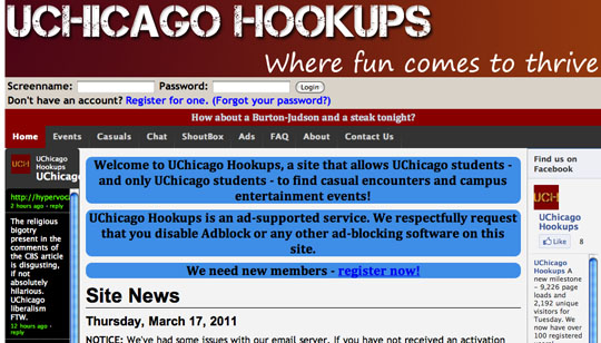 uchicago hookup site I've seen the for those of you who are curious about hookup culture at uchicago, this is, like, the most accurate picture it is possible to.